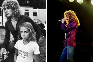 Carmen Jane Plant and her father Robert Plant