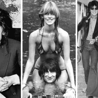 Krissy Findlay and Ronnie Wood