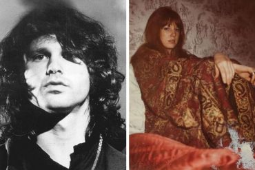 Pamela Courson and Jim Morrison