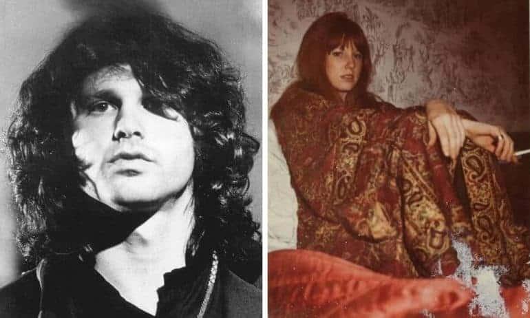 Pamela Courson and Jim Morrison