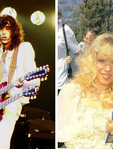 Patricia Ecker and Jimmy Page.