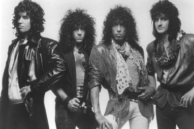 Eric Carr and the band, Kiss (1984).