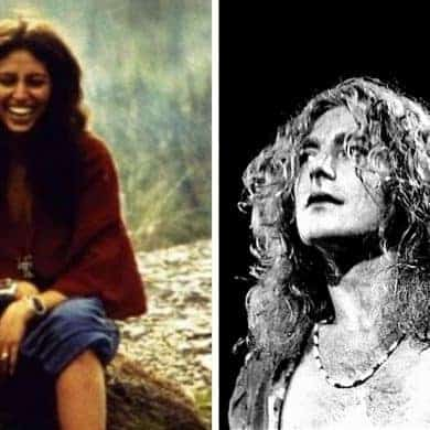 Maureen Wilson and Robert Plant