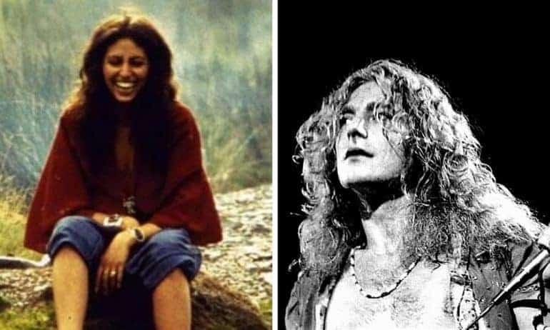 Maureen Wilson and Robert Plant