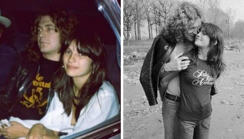 Audrey Hamilton and Robert Plant