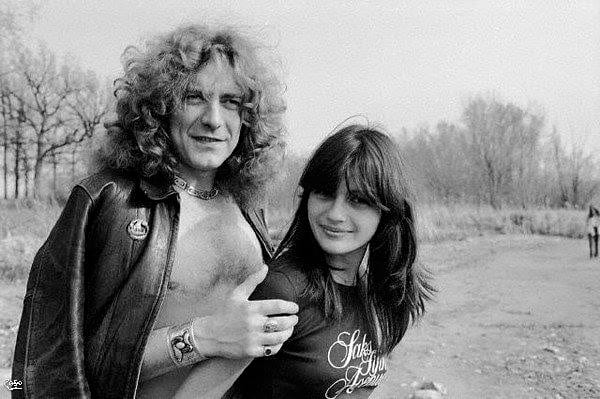 Audrey Hamilton and Robert Plant in Chicago, 1977.