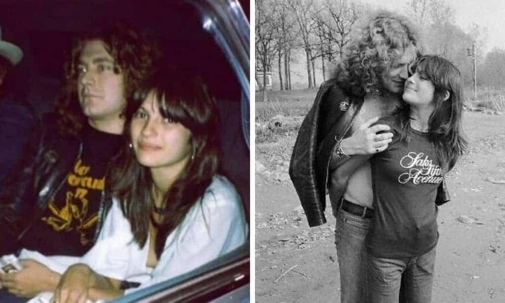 Audrey Hamilton and Robert Plant