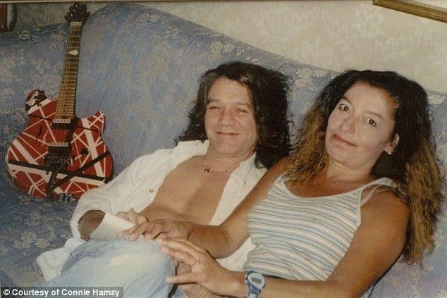 Connie Hamzy with Eddie Van Halen (2004).
