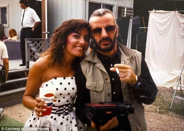 Connie Hamzy and Ringo Starr (1989).