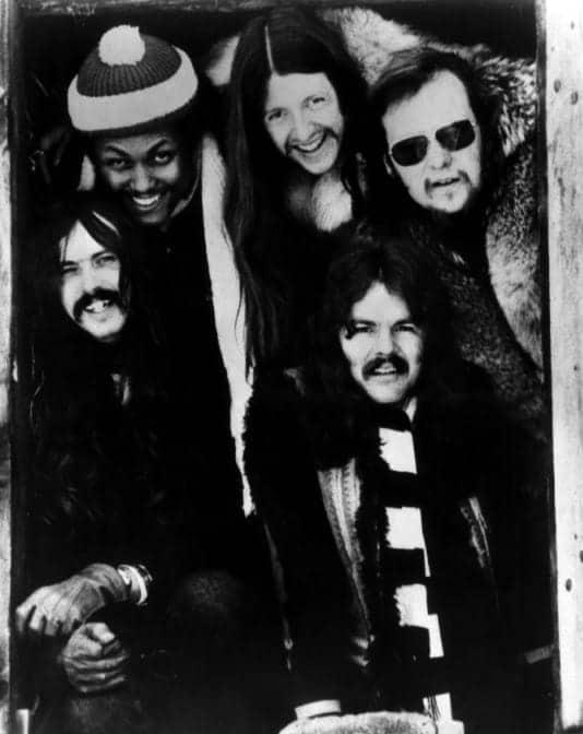 Photo of The Doobie Brothers in 1974.
