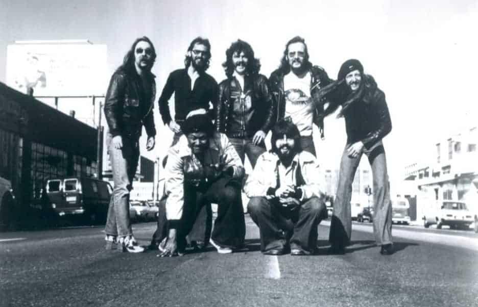 Photo of The Doobie Brothers in 1976.
