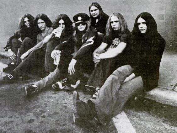 Ronnie Van Zant and the rest of the band, Lynyrd Skynyrd.