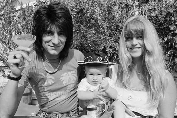Ronnie Wood and his first wife Krissy Findlay with their first child, Jesse Wood.