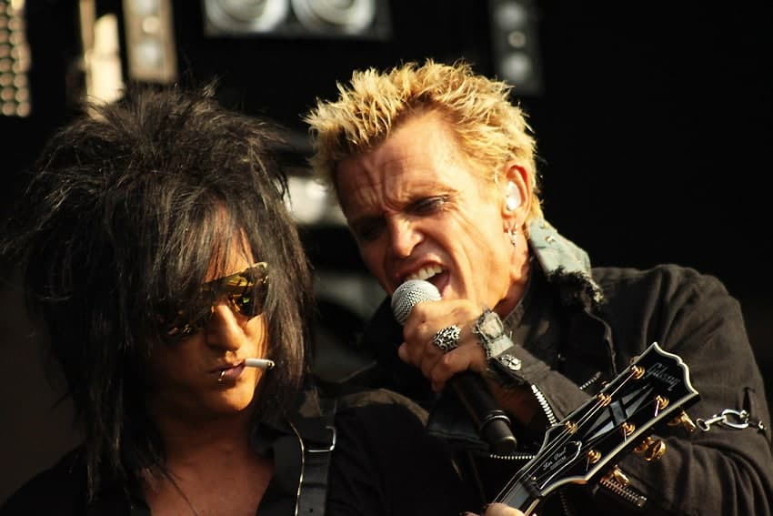 Billy Idol and Steve Stevens performing in the Netherlands (2010).