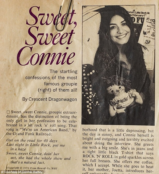 Sweet Sweet Connie Hamzy newspaper article.
