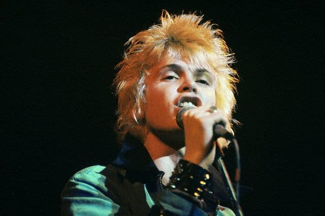 Billy Idol of Generation X in 1977.