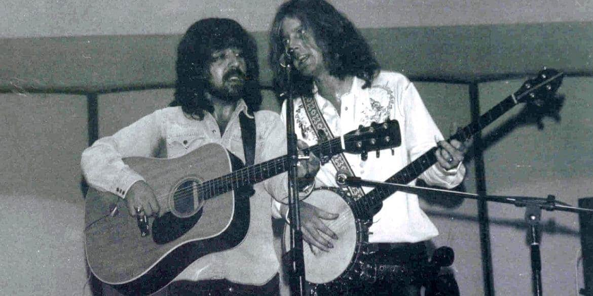 Clarence White and Roger McGuinn (1972).
