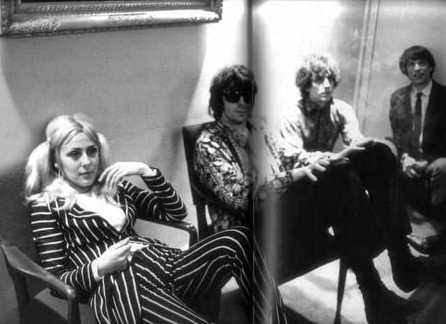 June Child, Syd Barrett, Richard Wright and Peter Jenner.