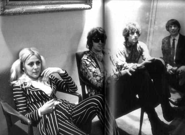 June Child, Syd Barrett, Richard Wright and Peter Jenner.
