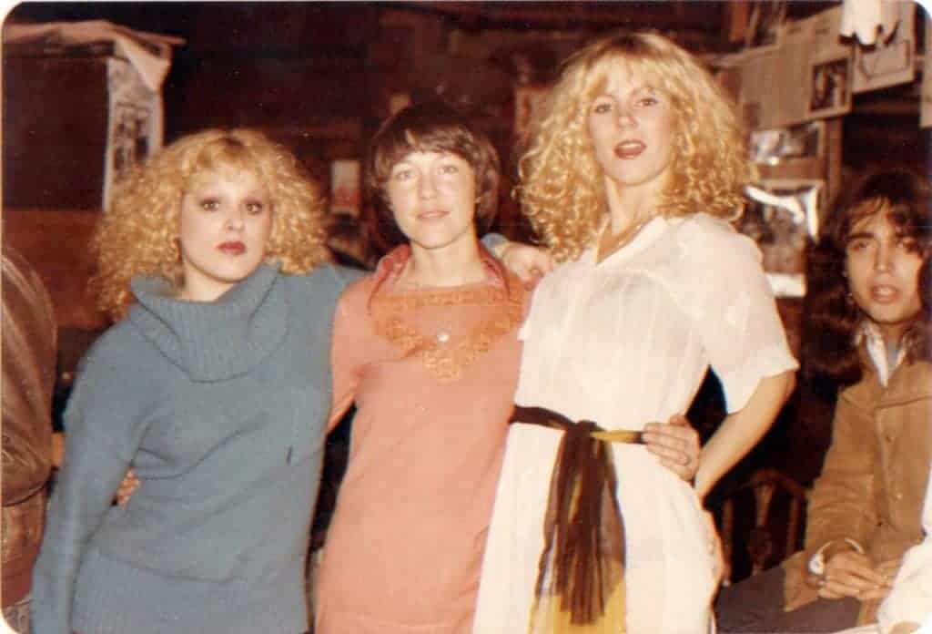 Sable Starr and Nancy Spungen at CBGB, New York City music club.