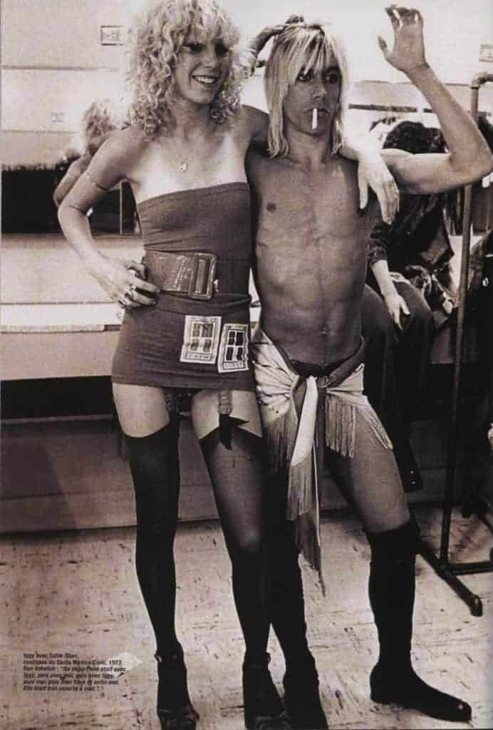 Iggy Pop and Sable Starr in 1973.