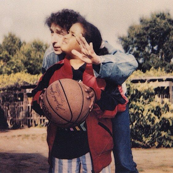 Bob Dylan and his daughter Desiree Gabrielle Dennis-Dylan.