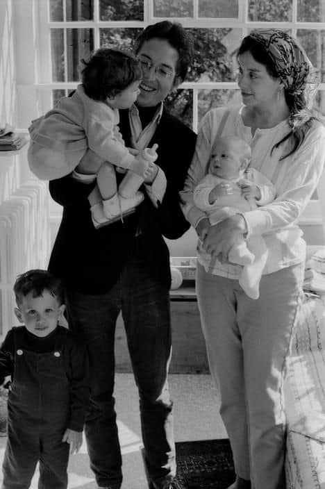 Bob and Sara Dylan with their children.