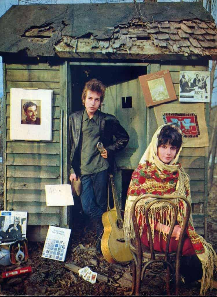 Bob and Sara Dylan at Shack, Woodstock, NY (1965).