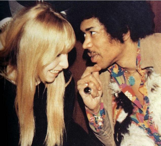 Jimi Hendrix and Monika Dannemann.