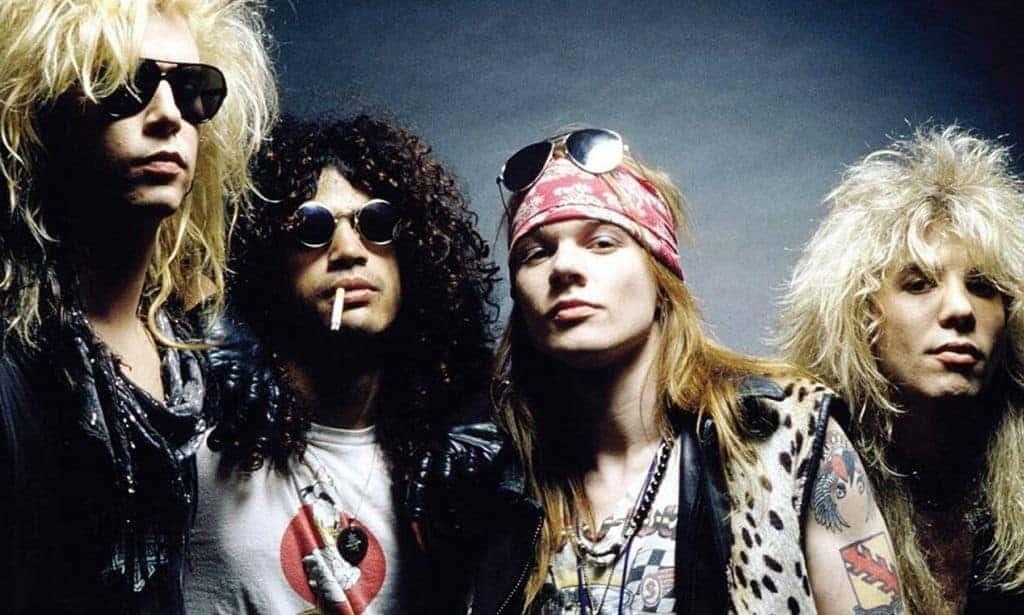 '80s bands Guns N Roses