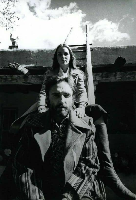 Dennis Hopper and Michelle Phillips in Taos, New Mexico, 1970.