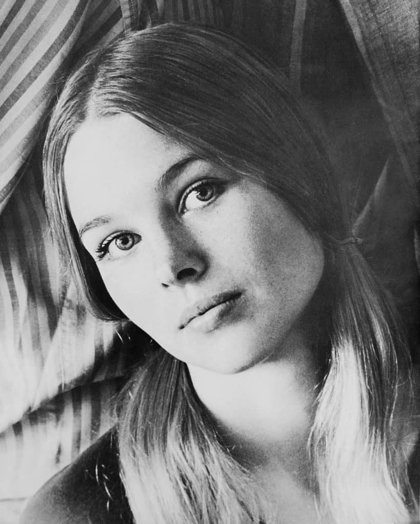 Photo of Michelle Phillips promoting the Mamas & the Papas' 1966 tour.