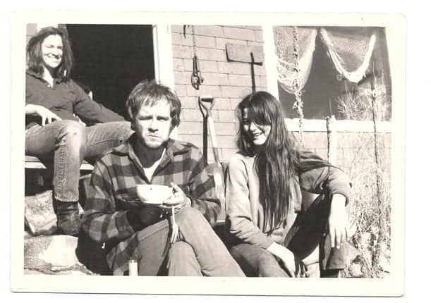 Tim Hardin, Susie Bergman, and Karen Dalton in Colorado. Photo by Dan Hankin.