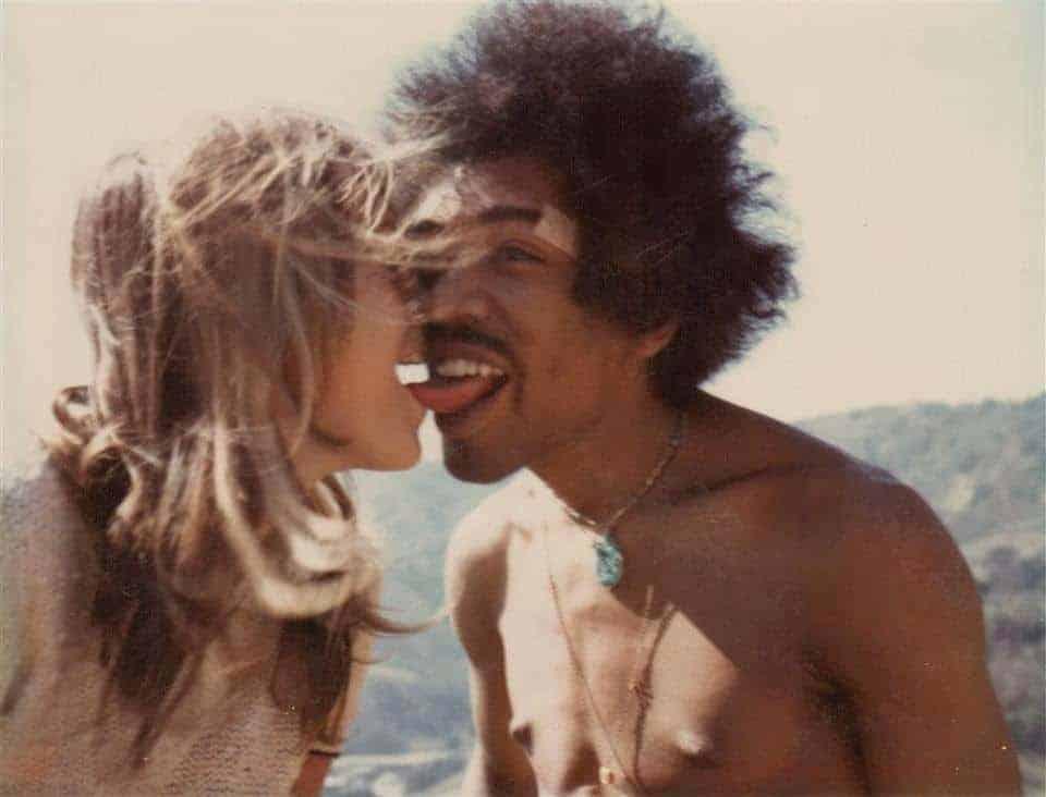 Jimi hendrix and Carmen Borrero (1968).