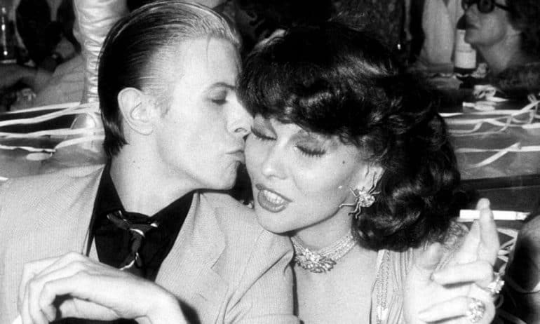 Romy Haag and David Bowie