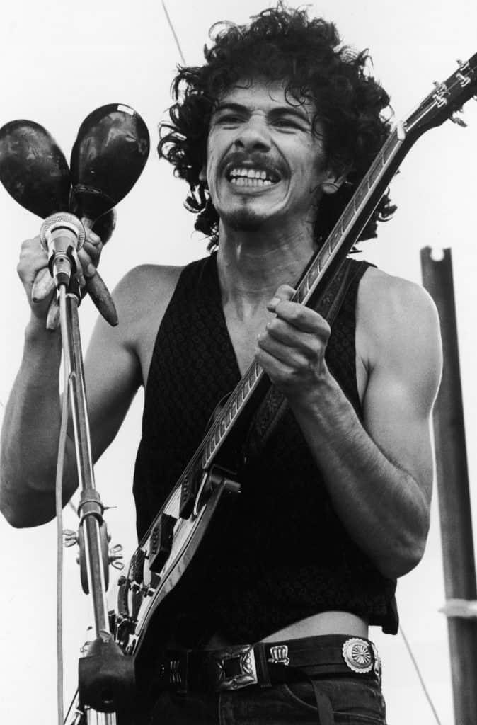 Carlos Santana Woodstock 1969.