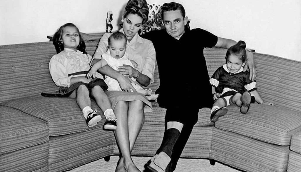 Vivian Liberto and Johnny Cash with children