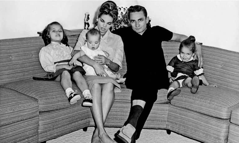 Vivian Liberto and Johnny Cash with children