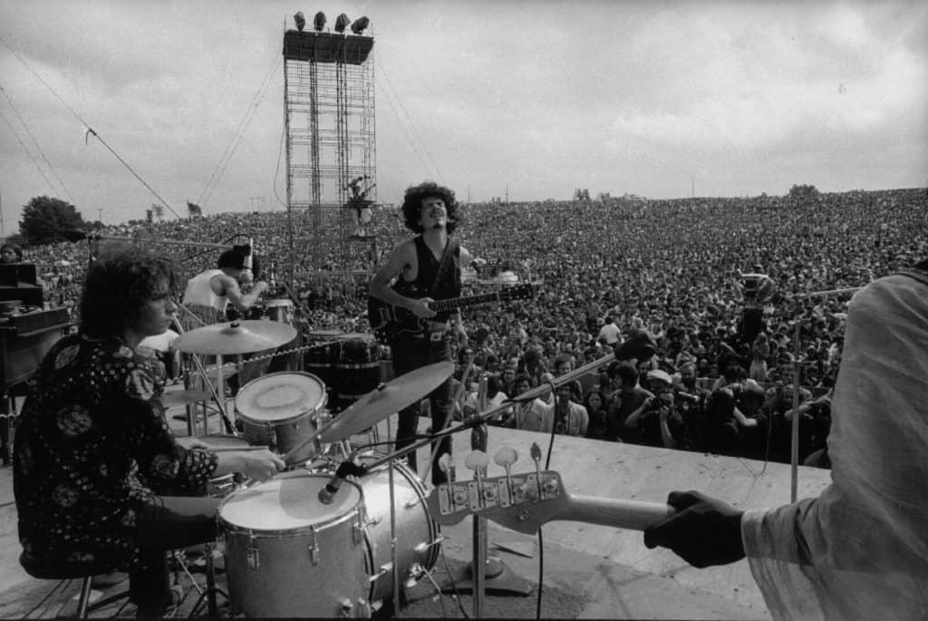Santana at Woodstock (1969).