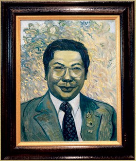 Joni Mitchell painting of Chogyam Trungpa.