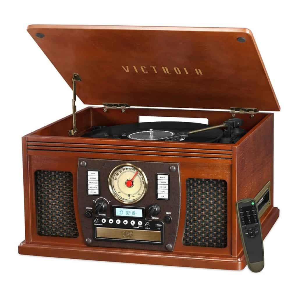 victrola 8 in 1 navigator record player with built in speakers
