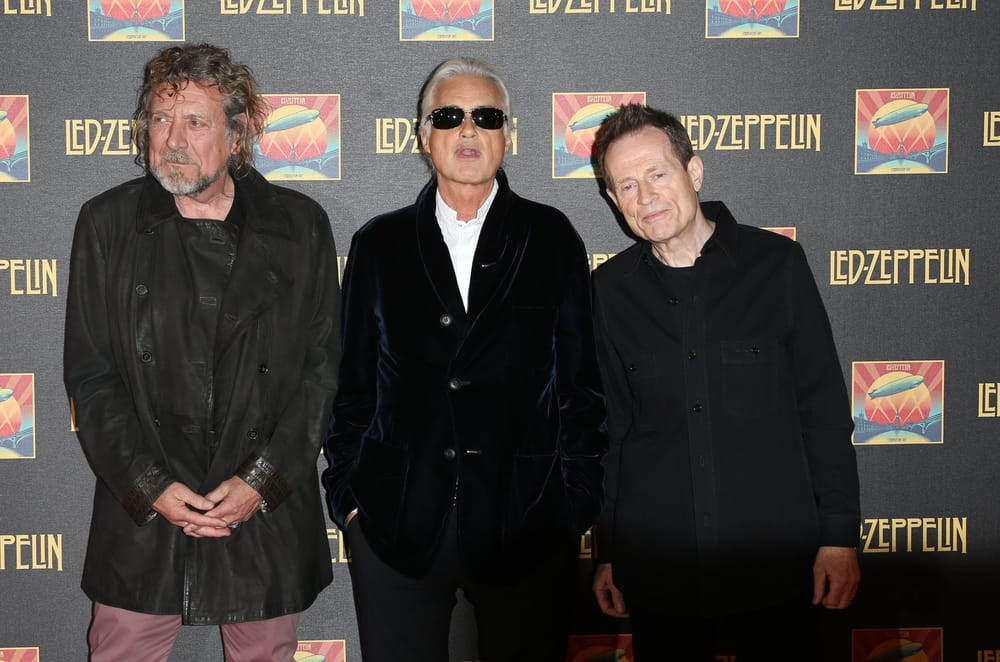 Robert Plant, Jimmy Page and John Paul Jones of Led Zeppelin